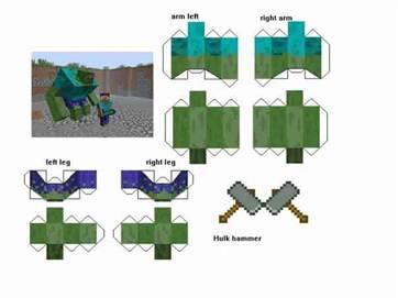 Оригами майнкрафт из бумаги схемы как сделать блоки с