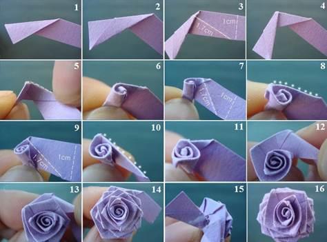 Как сделать своими руками розочку из бумаги