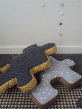 Выкройки подушка пазл