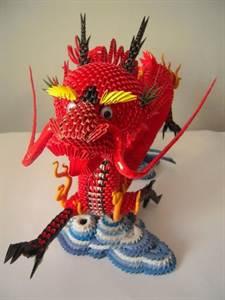Модульное оригами схема красного дракона
