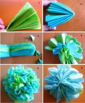 Как сделать цветочек из салфеток своими руками