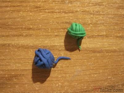 Как сделать клубок из пластилина