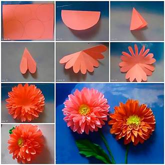 Сделать цветок из бумаги своими руками видео фото 349