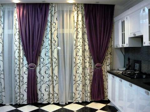 Выкройки штор для кухни своими руками бесплатно фото 549