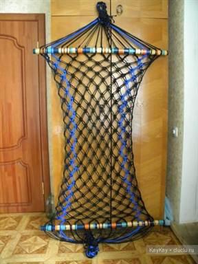 Плетение гамака из веревки подсчеты