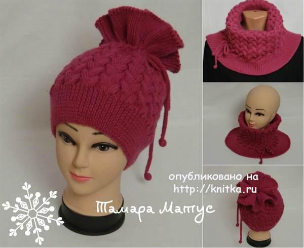 шапка женский спицами схемы