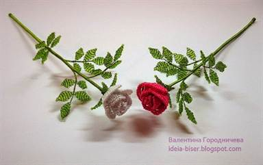 Как сделать из бисера роз