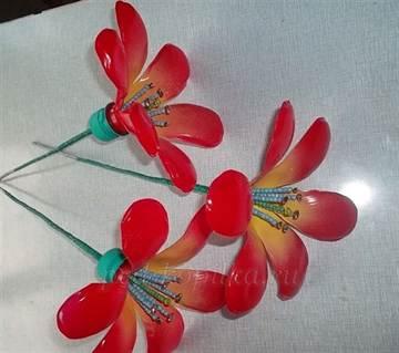 Как сделать цветок из пластиковой бутылки