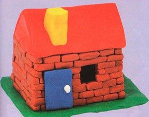 Как сделать дом из пластилина