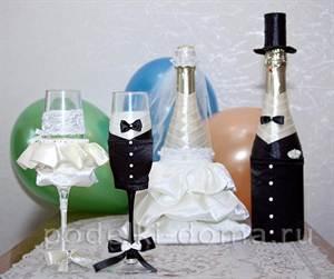Шампанское и бокалы для свадьбы своими руками фото фото 607