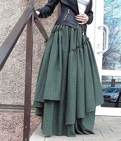 Бохо выкройки юбки скатерть