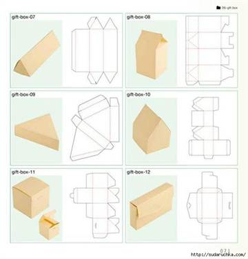 Коробки своими руками чертеж