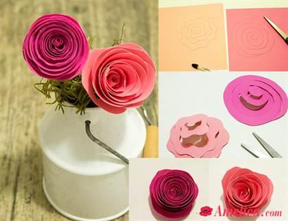 Как сделать роза из бумаги своими руками 85