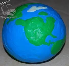 Объемный макет земли своими руками 50