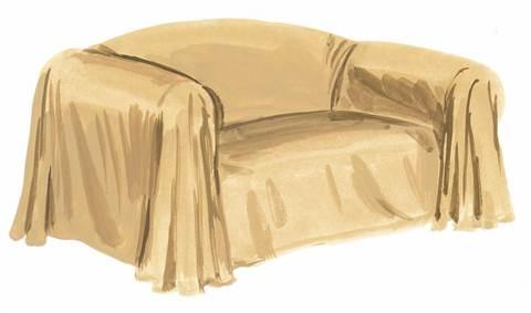 Выкройка для чехла на диван без подлокотников