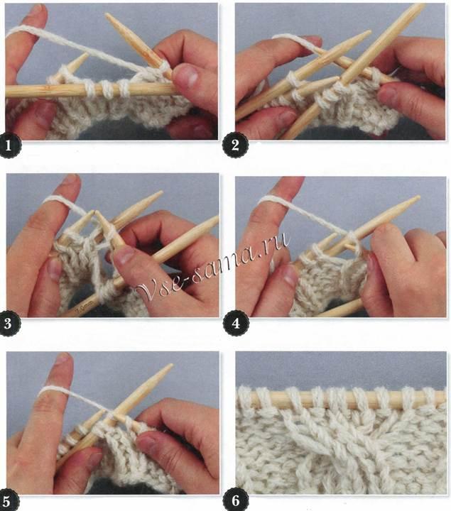 Видеоурок по вязанию косы