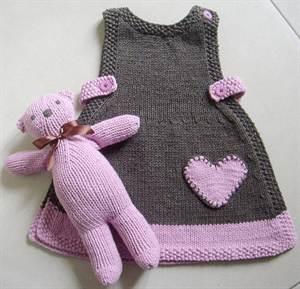 Вязаное платье для девочки спицами со схемами и описанием ...
