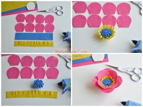 Цветы из ткани своими руками схемы шаблоны фото 218