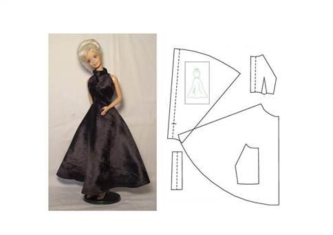 Как сшить пышное платье для кукол барби 265