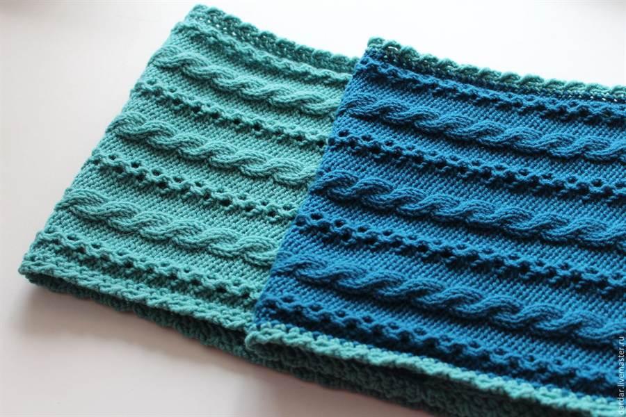 Шарф как связать спицами вязание для начинающих - Мой секрет 13