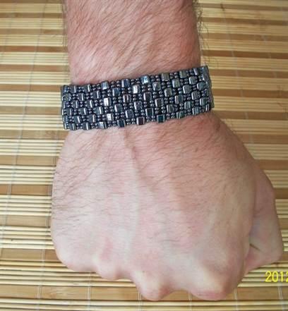 Плетение бисером мужских браслетов из