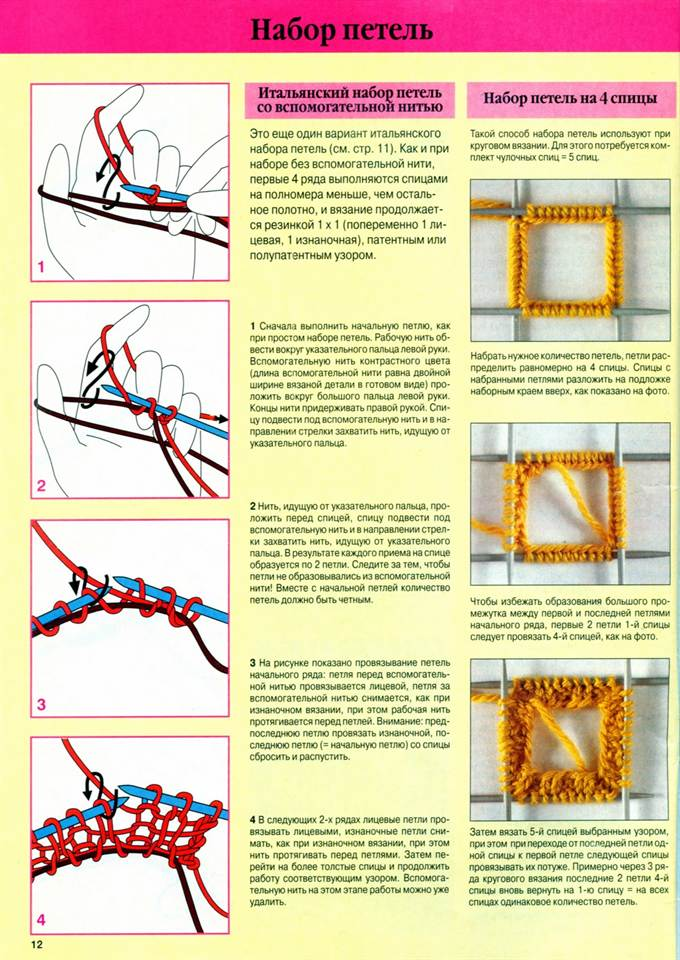 Вязание для начинающих спицами набор петель 59