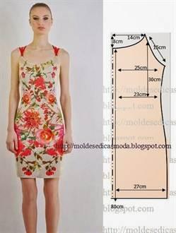 Схема выкройки для платья футляр