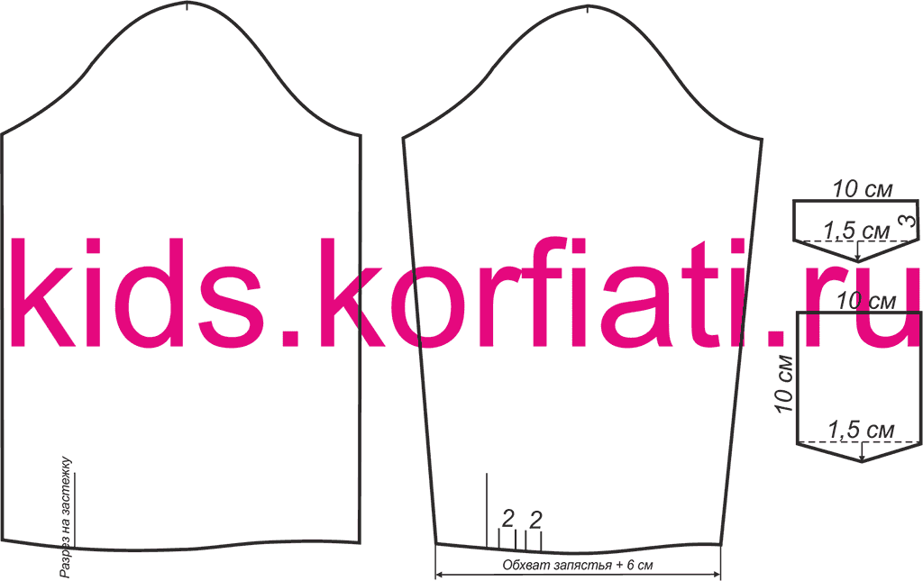 Сшить блузку для девочки по выкройке