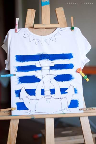 Нанесение надписи на футболку своими руками - Ручная