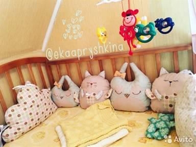 Развивающие бортики на кроватку своими руками фото 511