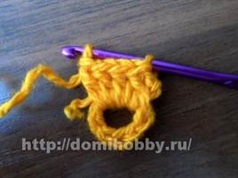 Накидка на табурет крючком