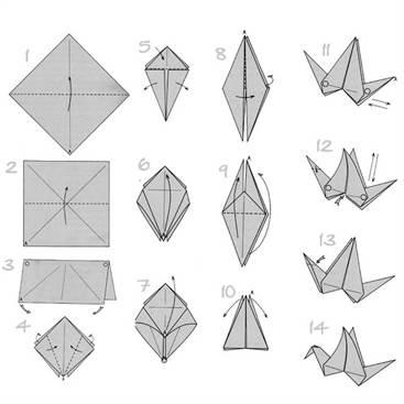 Лебедь оригами пошаговая инструкция