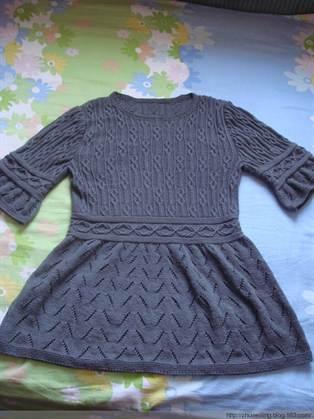 Вязание спицами теплое платье для девочки 87