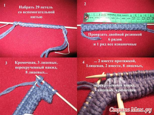 Вязание и набор петель на шапку 857