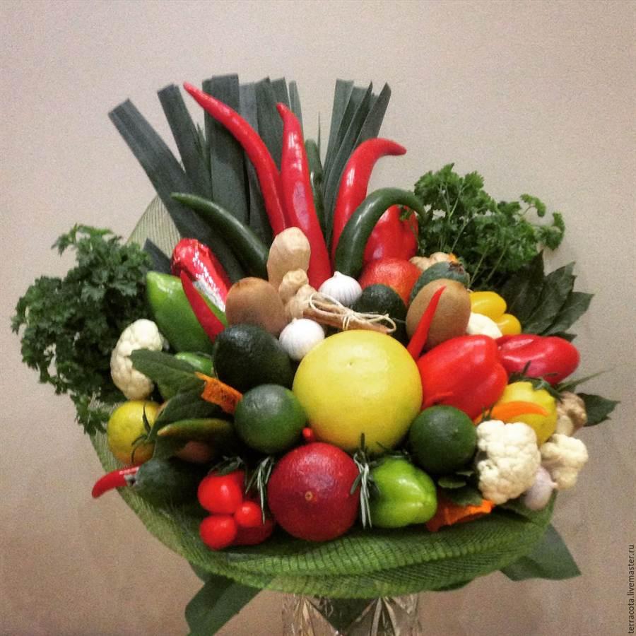 Цветы из фруктов своими руками пошагово фото 838