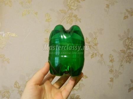 Лягушка из пластиковых бутылок мастер класс
