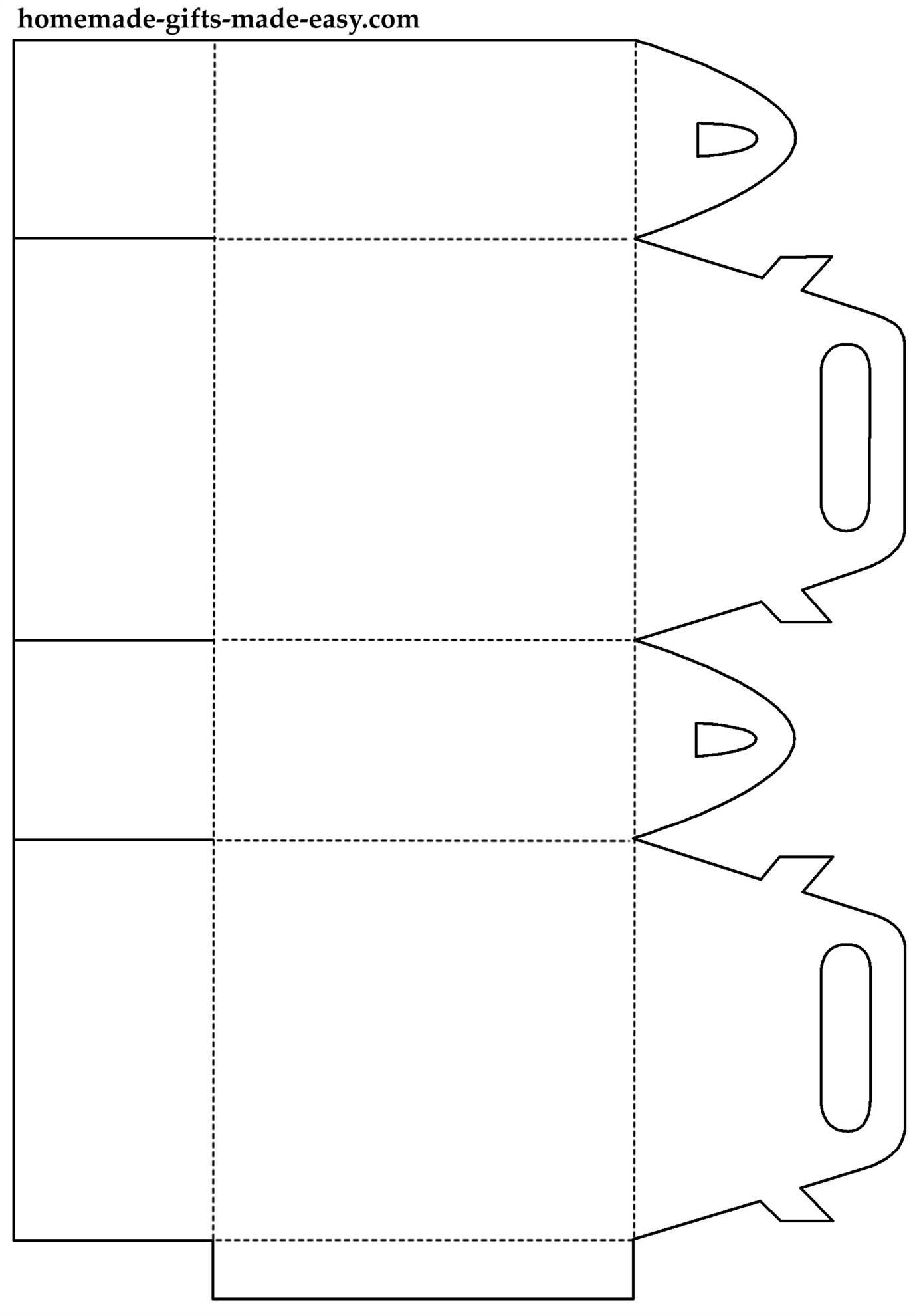 Подарочный пакетик из бумаги шаблон