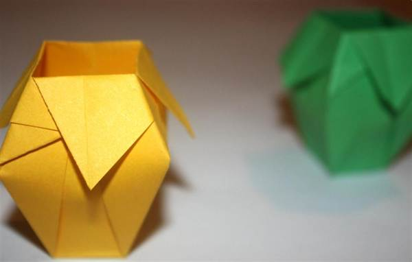 Как сделать вазу из бумаги поэтапно фото для начинающих
