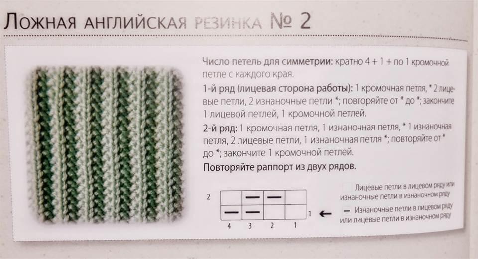 Вязание английской резинки спицами схема для начинающих с фото 75