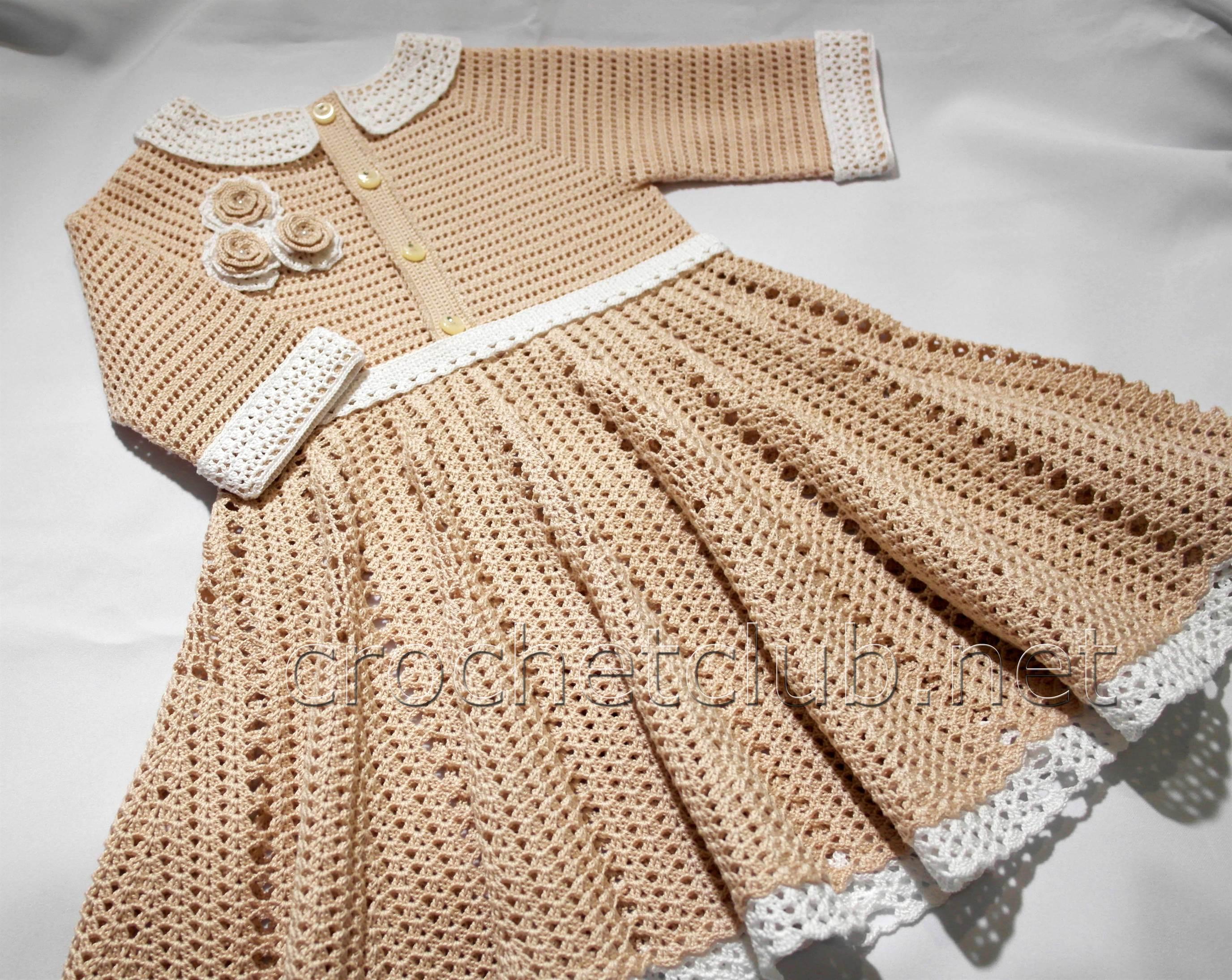 платья вязанные крючком схемы размер 3 года