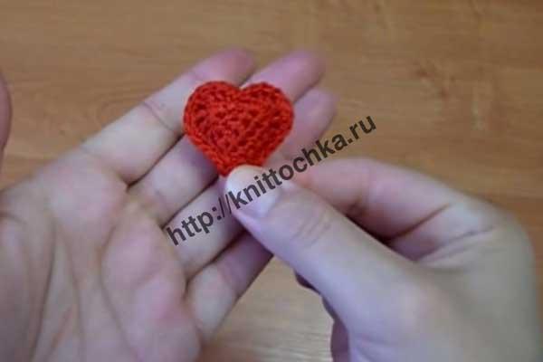 вязаное сердечко фото