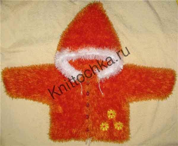 оранжевая детская куртка (размер: 74)