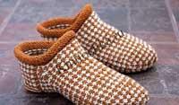 вязание спицами тапочек