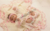 вязание для новорожденных девочек
