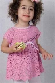 схема вязания детского платья крючком