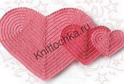 схемы вязания сердечка крючком