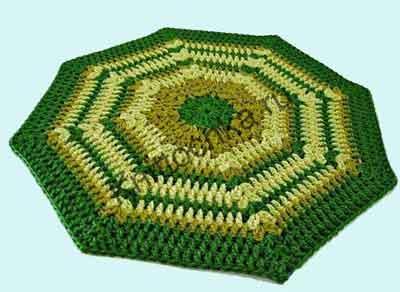 схемы вязания ковриков крючком