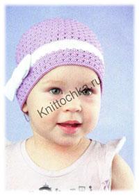 вязание крючком шапки для девочек