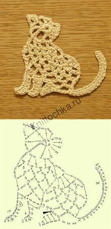 животное кот крючком