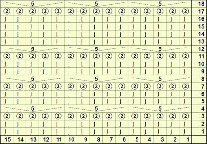 узоры для топа, схема